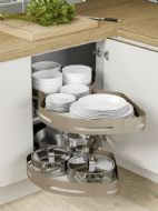 MATERIA TWIN SHELF MAGIC CORNER (Innostor Plus) - to suit 3 cabinet widths (ECF MAT71.900/1000/1200)